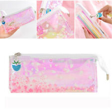 Durable Girl Pink Clear Sakura Pencil Case Pencil Holder Pencil Bag Stationery