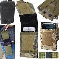 Universal Camuflaje Militar Bolsa para Teléfono Móvil Cinturón Aro Gancho Funda