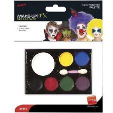 Déguisement Halloween Maquillage 7 Couleurs Peinture Visage Palette par Smiffys