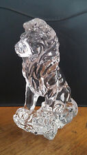 Lenox Crystal Seated Lion - In Perfect Condition