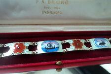 Norwegian Sterling Silver Scenic Enamel Bracelet - Andresen & Scheinpflug Norway