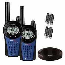 Cobra MT975 PMR446 Walkie Talkie Radio Twin Pack 8 millas de pantalla LCD Recargable