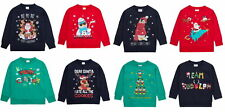 Girls Boys Christmas Jumpers For Kids 100% Cotton Sweater Novelty Xmas Tops