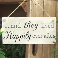 ...And They Lived Happily Ever After -  Romantic Wedding / Anniversary Sign Gift