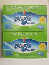 "2 MY PILLOW GO ANYWHERE PILLOWS TRAVEL SIZE 12"" x 18"" w/ PILLOWCASE BLUE AK 1022"