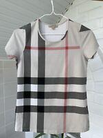 Women's Burberry Brit Beige Giant Check T-Shirt Tee Sz - M