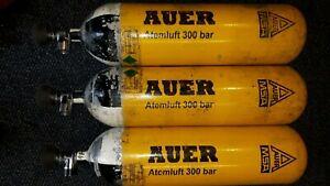 MSA Auer Atemluftflasche Druckluftflasche 6L 300 bar TÜV NEU bis 2026 Dräger V.