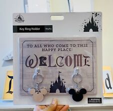 Disney Parks Welcome Quote Key Ring Holder Wall Hanging Castle Mickey Mouse