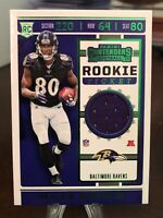 2019 Miles Boykin Panini Contenders Rookie Ticket Jersey Relic Emerald Green SP