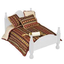 Reutter porzellan couverture de jour/Bordeaux queen bed Comforter set poupée 1:12