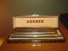 """Vintage """"The 64 Chromonica"""" Professional Model Key Of """"C"""" By M. Hohner With Wood"""