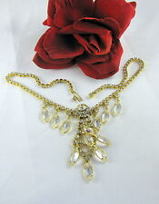 Vintage Juliana Rhinestone & Crystal  Necklace FERAL CAT RESCUE