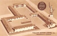 Postcard Vulcan Motor Lodge Hotel Motel in Birmingham, Alabama~125447