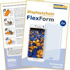 mumbi 2x Flex Folie für Samsung Galaxy S7 Schutzfolie Displayschutz Displayfolie