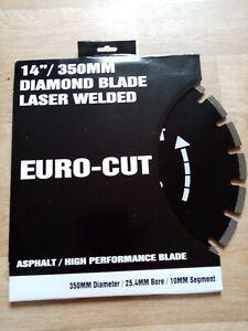 Euro Cut 350mm Asphalt Diamond Blade, 25mm bore, Bush to 20mm Inc.Quantity deals