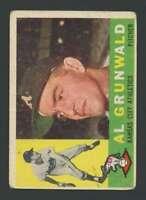 1960 Topps #427 Al Grunwald GVG RC Rookie Athletics 30376
