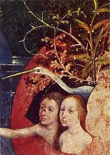 """Bosch (1453-1516) """"The Garden of Delights"""" (detail) Dutch Renaissance Postcard"""