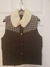 Topshop Black Padded Gilet Jacket Size 8
