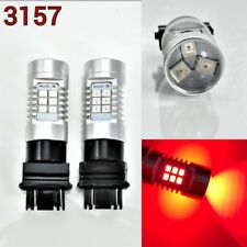 T25 3157 3057 4157 Peformance Auto 21 SMD LED Red Front Signal K1 For Eagle A