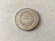 Pièce de 50 F  Hercule en argent France 1977
