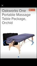 Oakworks portable massage table|Great Condition|Carry Bag|Headrest|Leg Bolster