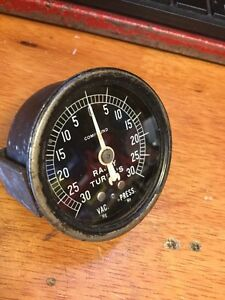 RAJAY TURBO CHARGER GAUGE MCCULLOUGH SUPERCHARGER UBER RARE TURBOCHARGER SCTA