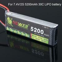 5200mAh 2s 7.4v 30C Lipo battery pack for RC Model Heli Backup Li-Po battery