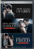 Fifty Shades of Grey 3 Trilogy Movie Collection DVD Theatrical Version Subtittle