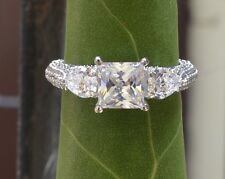 2.25CT 14KT WHITE GOLD PRINCESS & ACCENT PEAR SHAPE DIAMOND ENGAGEMENT RING