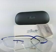 Brand New Authentic Silhouette 5397/53 Eyeglasses Blue rimless Titanium 5397
