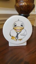 ARTHUR WOOD BACK TO FRONT - PIGGY BANK MONEY BOX DUCK EUC