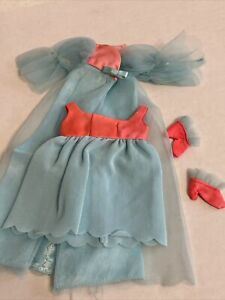 """Vintage Barbie Doll Outfit  """"Cloud 9"""" #1489  Nighty Robe Slippers. Bright!"""