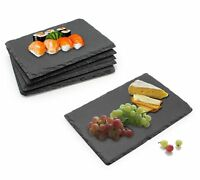 Rectangular Natural Slate Serving Plates / Platters – Set Of 6