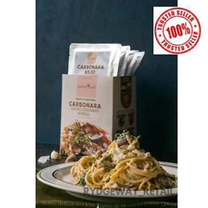 Instant Carbonara Pasta Sauce with Spaghetti 4servings HALAL [CHICKEN]