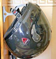 MOTORBIKE MOTORCYCLE SOLID SCOOTER HELMET GREY HOLDER HANGER DISPLAY RACK HOOK