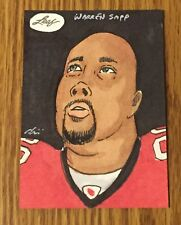 Warren Sapp 2013 Leaf Best of Football Sketch Card #1/1 - Tampa Bay Buccaneers