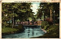 Vintage Postcard - Rustic Bridge Prospect Park Brooklyn New York Un-Posted #3326