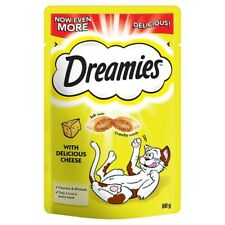 Dreamies Cheese Adult 1+ Cat Treat 60g Case Of 8
