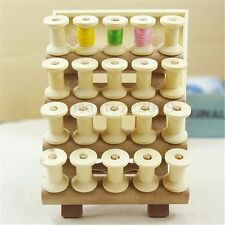 20Pcs Vintage Style Wooden Bobbins Spools Reels For Sewing Ribbons Twine Crafts