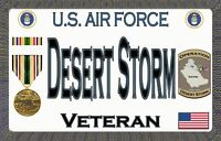 Air Force - Desert Storm - Magnetic Car Sign - 6in X 3.75in