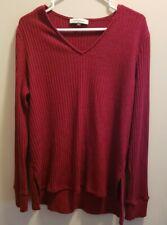 Women's Maternity Long Sleeve Burgundy Lightweight Sweater Size XXL By Angel...