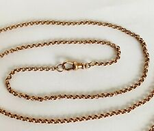 More details for antique victorian 9ct rose gold  / belcher necklace chain / 8.1 grams / 24 inch