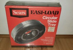 NEW Sears Easi-Load Circular Slide Projector Tray for 100 2x2 slides Rotary