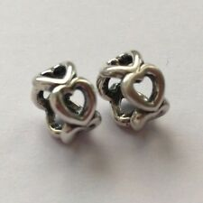 New Genuine Pandora HEART SPACER PAIR Charm 790454 Valentines day Gift Love Wife