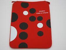 COTE & CIEL Comme des Garçons Red iPad Sleeve Case Black&White Polka-Dot NEW