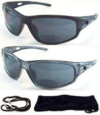 Bifocal HD Vision Reader Reading Glasses Sunglasses Black Smoke or Amber Lens
