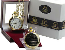 OASIS signed Liam Noel Gallagher Gold Pocket Watch Luxury Gift Case 24k Plated