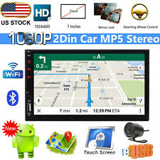 2 Din Android Car Stereo Radio Gps Navigation WiFi Quad-Core 7'' Video Player