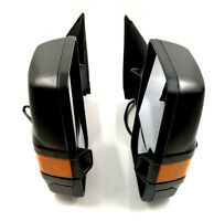 For 99-02 Chevy GMC Power Heated LED Signal Light Black Side View Towing Mirrors