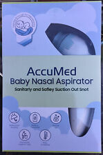 Baby Nasal Aspirator Electric Nose Cleaner Safe Hygienic Nostril By: AccuMed Nib